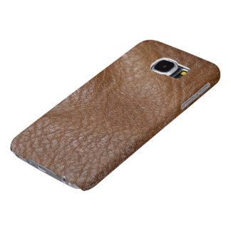 2.a caja Foto-muestreada de la Cuero-mirada Fundas Samsung Galaxy S6