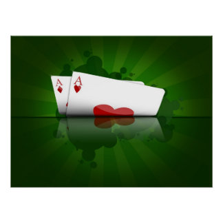 2 Aces Texas Hold'em Poster
