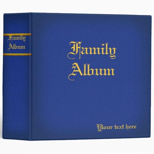 2 adentro. Carpeta azul del álbum de la familia