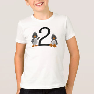 2 Age T-shirt with Two Penguins