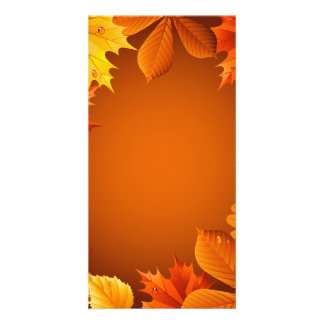 2.ai Orange Autumn Leaves Card