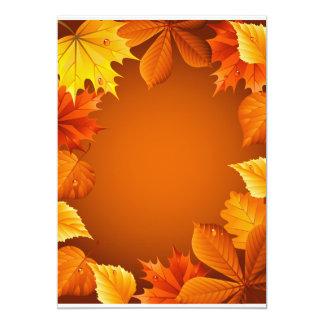 2.ai Orange Autumn Leaves Card