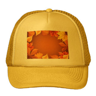 2 ai Orange Autumn Leaves Hats