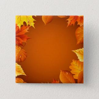 2.ai Orange Autumn Leaves Pinback Button