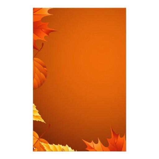 2.ai Orange Autumn Leaves Stationery