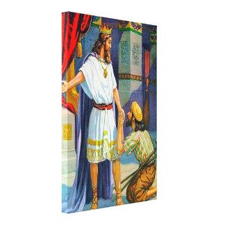 2 amabilidad de Samuel 9 a la lona de Mephibosheth Impresión En Tela