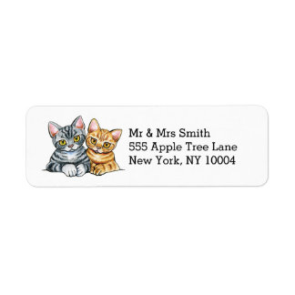 2 American Shorthairs Label