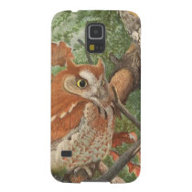 2 angry vintage owls in a tree galaxy s5 cover