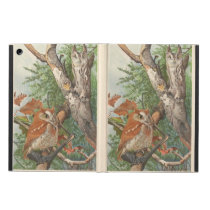2 angry vintage owls in a tree iPad air case