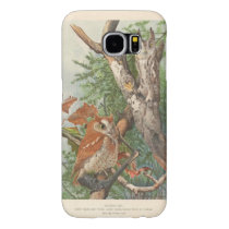 2 angry vintage owls in a tree samsung galaxy s6 case