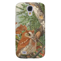 2 angry vintage owls in a tree samsung s4 case