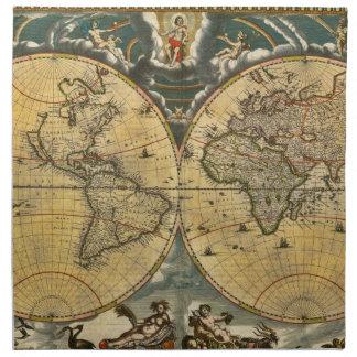 #2 apenado mapa del mundo antiguo servilleta de papel