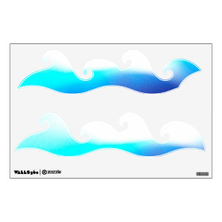 2 Aqua Wave Decals © Roseanne Pears 2012.