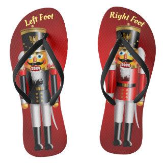 2 Authentic Nutcracker Toy Soldiers Flip Flops