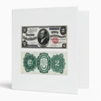 $2 Banknote Silver Certificate Series 1891 Binder