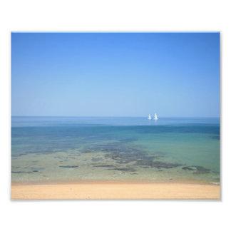 2 barcos de vela, playa de Melbourne - impresión Fotografía