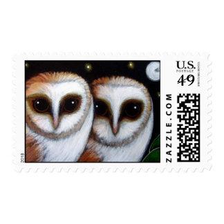 2 BARN OWLS Postage