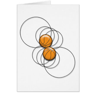2 Basketball Pattern - 3D Card