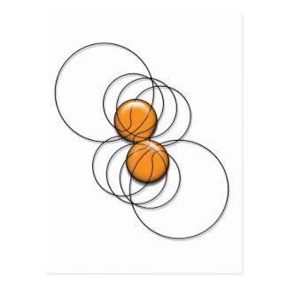 2 Basketball Pattern - 3D Postcard