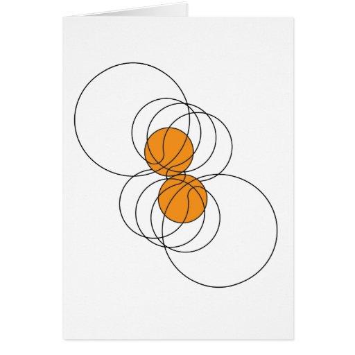 2 Basketball Pattern Greeting Cards