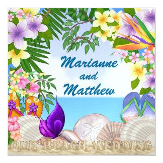 #2 Beach Wedding - SRF Personalized Announcement