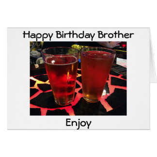 "2 BEERS ON A ""CRAZY BAR"" BIRTHDAY WISHES BROTHER CARD"