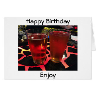 "2 BEERS ON A ""CRAZY BAR"" BIRTHDAY WISHES FOR YOU CARD"