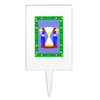 2 belly dancers and an hour glass.png cake picks