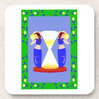 2 belly dancers and an hour glass.png beverage coaster
