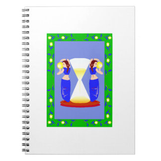 2 belly dancers and an hour glass.png spiral note books