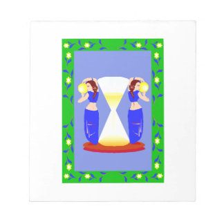 2 belly dancers and an hour glass.png memo note pads