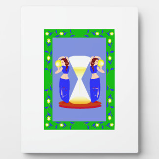 2 belly dancers and an hour glass.png display plaques