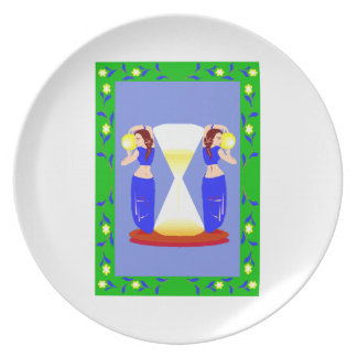 2 belly dancers and an hour glass.png plate