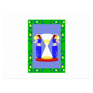 2 belly dancers and an hour glass.png post cards