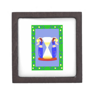 2 belly dancers and an hour glass.png premium trinket box