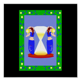 2 belly dancers and an hour glass.png print
