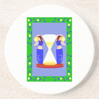 2 belly dancers and an hour glass.png sandstone coaster