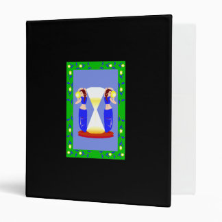 2 belly dancers and an hour glass.png vinyl binder