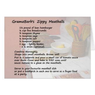 2 Best Meatball Recipes Card