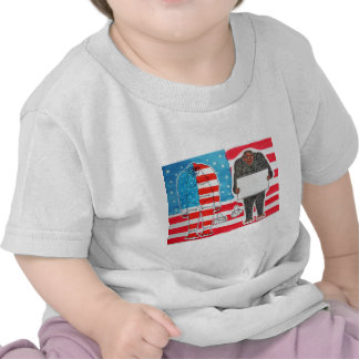 2 big foot H,text & flag U.S.A. flag..JPG Tee Shirts