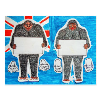 2 big foot text, on Aussie flag. Post Cards