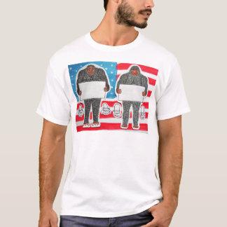 2 big foot text, on U.S.A. flag. T-Shirt