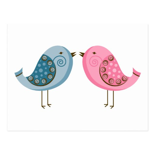 2 Birds Post Card