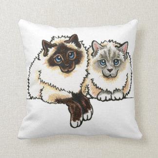 2 Birman Throw Pillow