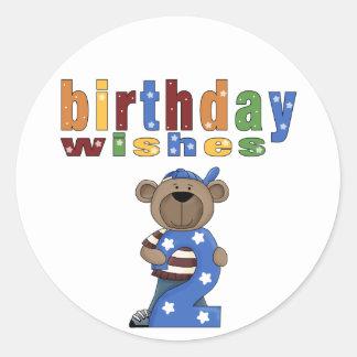 # 2 Birthday Bear Fun Stickers Seals