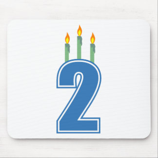 2 Birthday Candles (Blue / Green) Mouse Pad