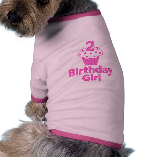 2 - Birthday Girl - Cupcake Design Pet Shirt
