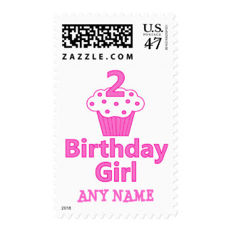 2 - Birthday Girl - Cupcake Design Postage