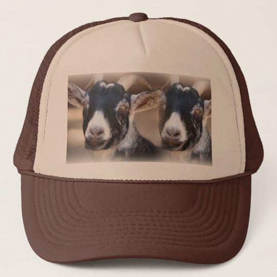 2 Black Goats Trucker Hat