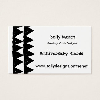 2 Black row of triangles pattern business cards